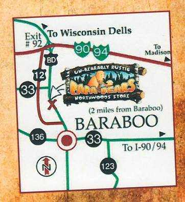 Map to our location in Baraboo WI