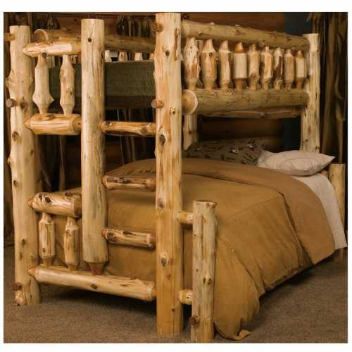 White Cedar Rustic Bunk Bed