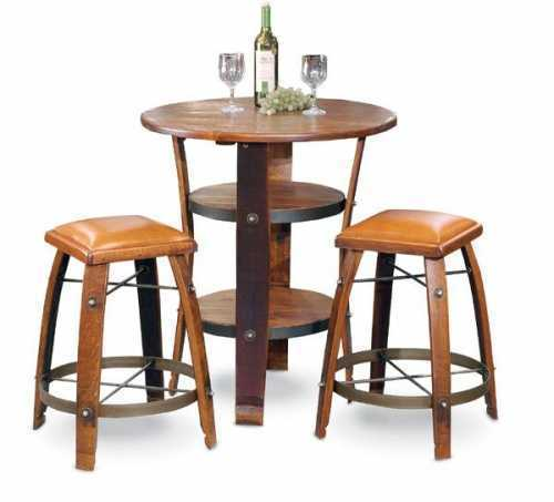 Reclaimed Wine Barrel Napa Bistro Table