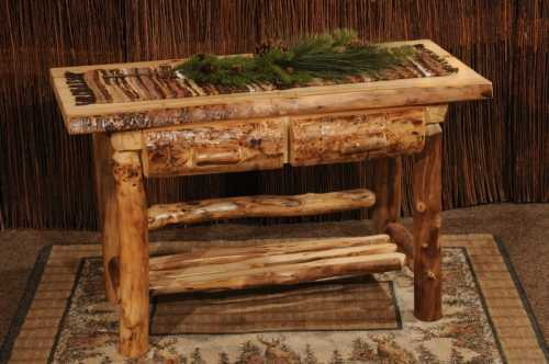 Winding River Aspen Sofa Table with Drawers