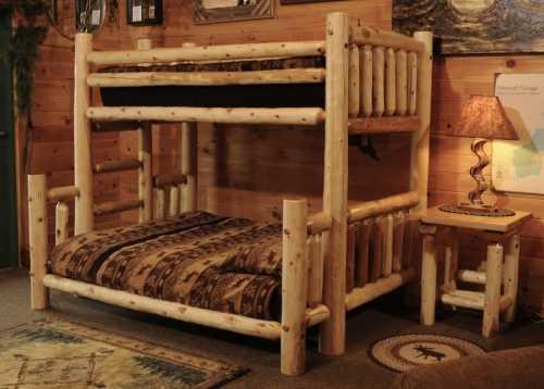 Perfect White Cedar Bunk Bed