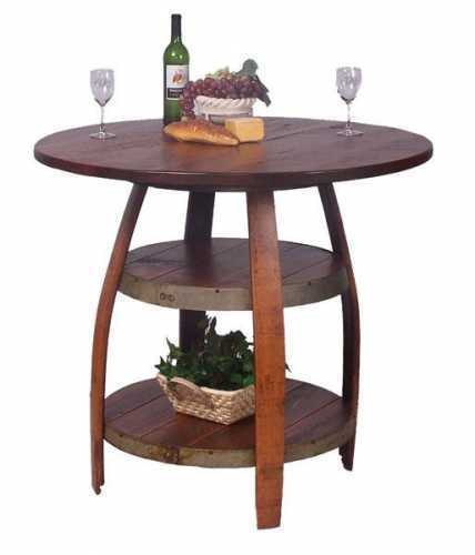 Reclaimed Wine Barrel Barrique Bistro Table
