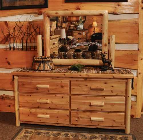 White Cedar 6 Drawer Dresser
