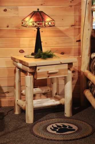 White Cedar 1 Drawer Nightstand
