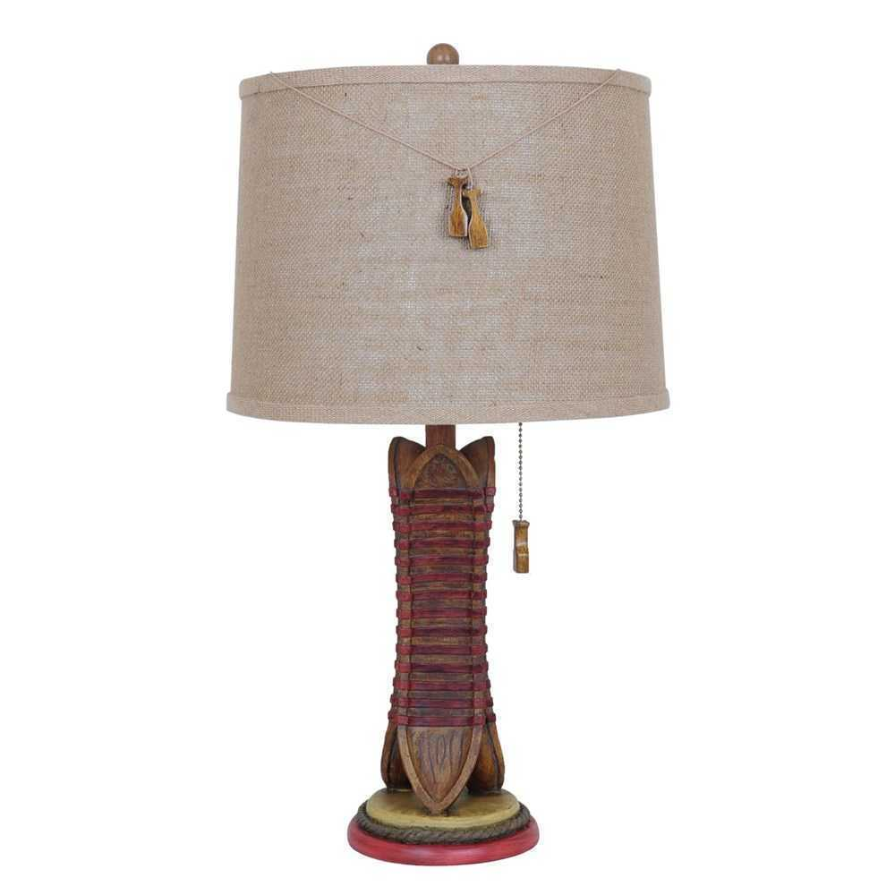 Vertical Canoe Table Lamp