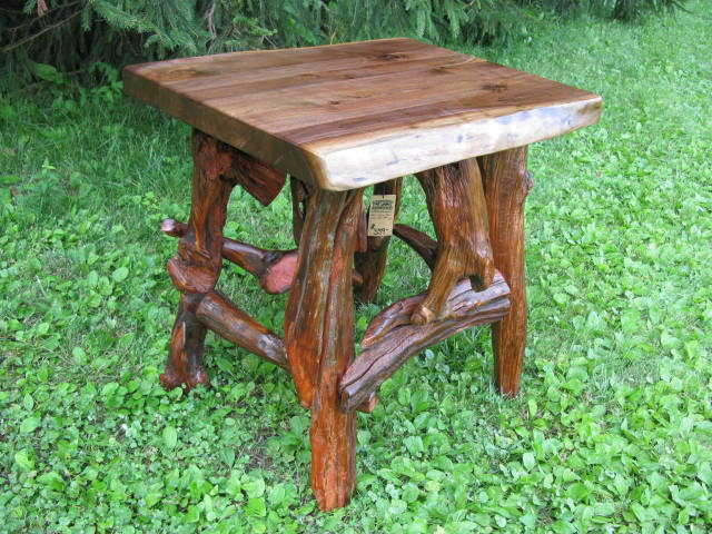 Black Walnut and Root End Table