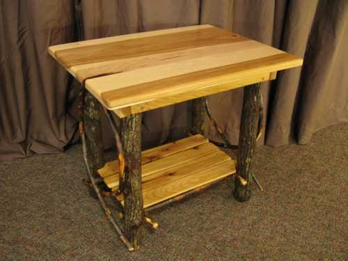 Hickory Rectangle End Table