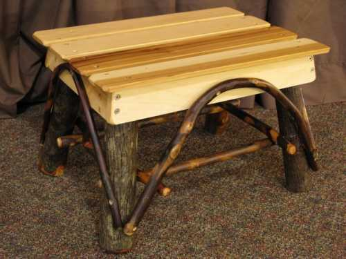 Hickory Foot Stool