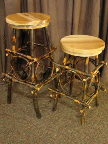 Hickory Bar Stool with Swivel