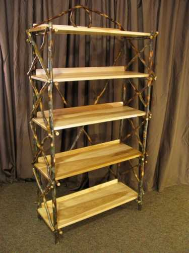 Hickory Bookshelf With Out Back