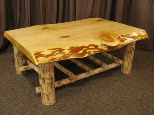 Live Edge Pine Slab Coffee Table