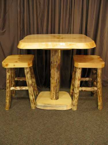 Pine Slab Pub Table