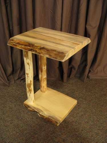 Live Edge Pine Push Table