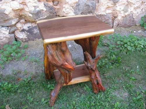 Black Walnut and Root Plant Stand