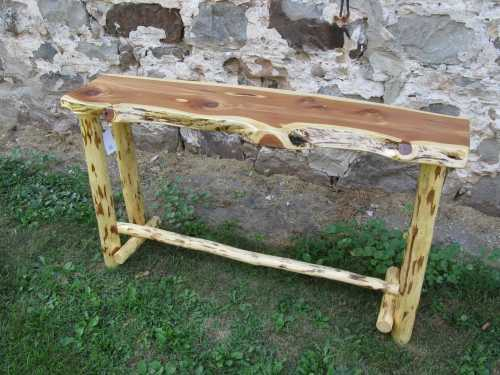 Red Cedar Sofa Table