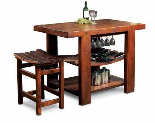 Reclaimed Wine Barrel Russian River Kitchen Island