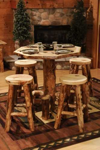 Winding River Aspen Octagon Pub Table